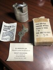 Vintage Military US Miracle Lock Div. Mod SPL With Box,Papers,Keys Padlock RARE