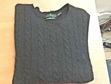 Ralph Lauren 100% Cashimere Crew Neck Navy Blue Sweater Size Large