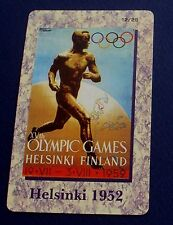 HELSINKI 1952 OLYMPIC GAMES POSTER. PREPAID CARD FROM A SET OF 25 CARDS