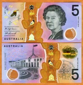 Australia, $5, 2019, P-62b, QEII, New Signature, Polymer UNC > Redesigned