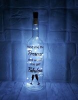 Prosecco Gift light up bottle fabulous mum friend birthday hen party gift