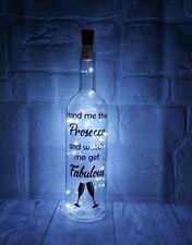 Prosecco Gift light up bottle fabulous mum friend birthday hen party gift