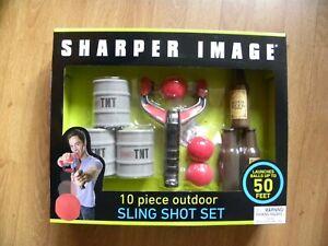 Sharper Image 10 Piece Outdoor Sling Shot Set - NEW