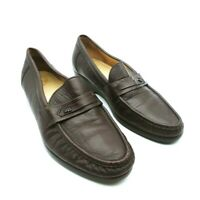 SAS Mens Loafer Dress Shoes Brown Moc Toe Low Top Slip On 11 M