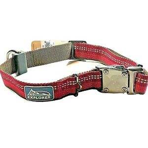 "Coastal K9 dog Safety Collar Explorer Large 18""-26"" Berry Red Reflective New"