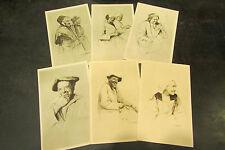 6 cpa illustrateur scherbeck 1935 tetes de bretagne costume metier breton 5