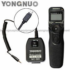 Yongnuo Wireless Timer Remote Control MC-36R for Nikon D7200 D7100 D5300 D5200