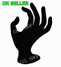 Black Velvet Jewelry Ring Bracelet Display OK Hand Model Display Holder Stand