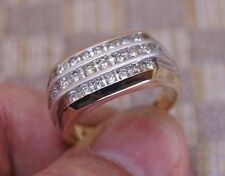 NEW MEN'S .75ct CHANNEL SET DIAMOND RING (14K YELLOW GOLD)