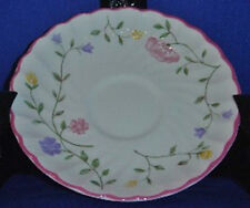 """Johnson Brothers Summer Chintz Saucer(s) """"Since 1883"""" Green Backstamp"""
