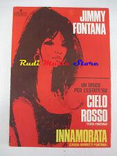 JIMMY FONTANA Cielo rosso Innamorata 1968 RARO SPARTITO SINGOLO RCA cd lp dvd mc