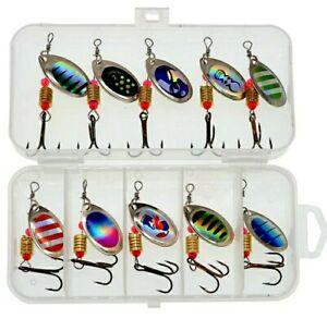 Lotto 10  cucchiaini Rotanti   3,5 Gr, Spinning trota persico bass ,trout spoon