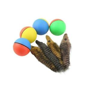 Pet Dog Cat Toys Electric Beaver Weasel Toy Rolling Ball Toys For Dog Jump S4C2