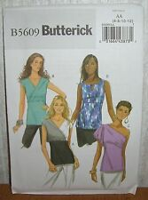 Womens/Misses Close Fit Pullover Tops Sewing Pattern/Butterick B5609/SZ 6-12/UCN