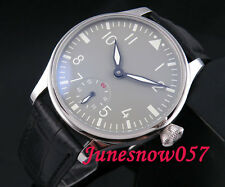 Parnis 44mm grey sterial Dial luminous seagull 6498 hand-winding mens watch 32