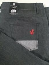 NWT ROCAWEAR Jeans Classic Fit Raw Black/Red 48x32 Free Shipping