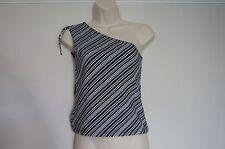BNWOT  Lovely stripe black/white hidden support top M Medium