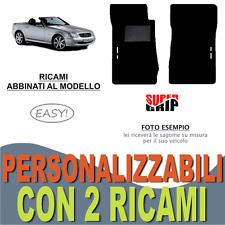 PER MERCEDES CLASSE SLK R170 TAPPETI AUTO MOQUETTE E FONDO GOMMA + 2 RICAMI EASY