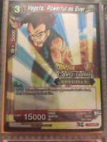 JUDGE RARE Vegeta, Powerful as Ever P-030 PR Dragon Ball Super Card Game Mint