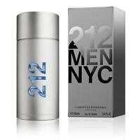 212 Cologne by Carolina Herrera, 3.4 oz EDT Spray for Men NEW