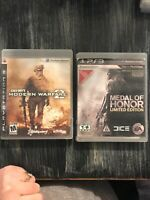 Call Of Duty: Modern Warfare 2 & Medal Of Honor PS3 PlayStation 3 Lot of 2