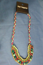 Bead Red Green Blue Necklace Pier 1 Imports New Braided