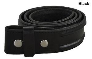New Mens Adidas Snap On Golf Belt Strap 100% Full Grain Genuine Leather Black 30