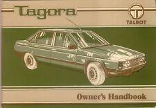 Talbot Tagora SX GLS GL 1981-83 Original UK Owners Handbook Pub. I.B. 585
