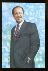 Pete Rozelle Signed Goal Line Art GLAC Autographed NFL Commissioner1960-89 JSA