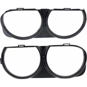 Fits Dodge Challenger Headlight Bezel 2015 16 2017 Pair RH and LH For CH2511101