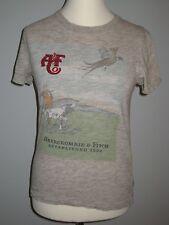 Abercrombie & Fitch T-Shirt, Grau-Braun-Meliert – Herren US XS #31