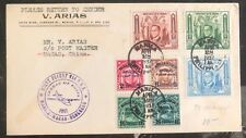 1937 Manila Filippine First Flight Cover Ffc a Postmaster Macao Cina