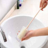 Mango largo esponja lavado taza cepillo bebé leche botella cepilloSV
