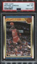 1988 Fleer All-Star Basketball #120 Michael Jordan Chicago Bulls HOF PSA 8