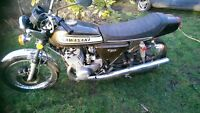 Kawasaki H2 750 triple 2 stroke classic restoration project vintage japanese