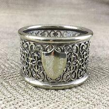 Antique napkin ring plaqué Argent Filigrane Ornate Victorian