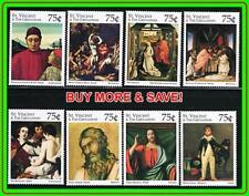 St. Vincent/ Cuadros: Botticelli, Caravaggio, Goya MNH Religion, Judaica, Music