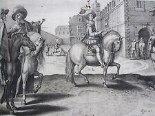 Pluvinel Horsemanship Horse Louis XIII France de Passe Merian Plate 24 - 1640