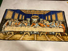 Vintage The Last Supper Velvet Wall Tapestry Hanging Table Runner Made in Italy