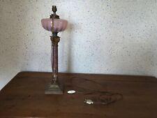 ancienne belle et très grande lampe a pétrole électrifiée hauteur 53,5 cm