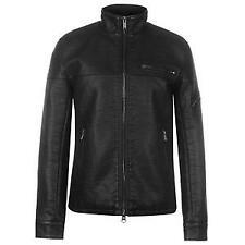 Firetrap PU bomber jacket mens black size: xxlarge   *4