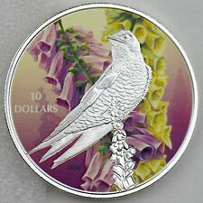 2017 $10 Birds Among Natures Colors Purple Martin 1/2 oz Pure Silver Color Proof