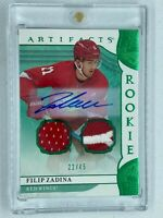 2019-20 Artifacts Filip Zadina Rookie Card 4 Card LOT! Patch / Auto - Red Wings