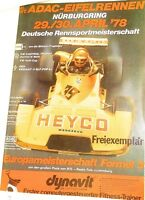 29 30. April 1978 ADAC Course Eifel Nürburgring Brochure de Programme Å X10