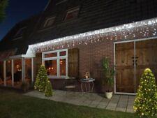 490 LED Lichterkette 8 Funktionen Timer Eisregen Vorhang 20m Weiß Außen IP44