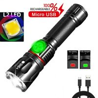 Super Bright T6+COB LED Flashlight USB Rechargeable Magnetic Torch Zoom Light
