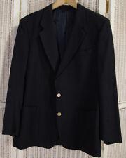 "Vintage BURBERRYS Navy Blazer Jacket 45"" Chest Virgin Wool Made in West Germany"