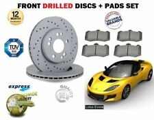 LOTUS EVORA 3.5 VVTi 2009--> NEW FRONT DRILLED BRAKE DISCS SET + DISC PADS SET