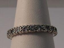 Spinel Eternity White Gold Fine Rings