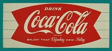 Coca Cola Fish ad Rectangle High Quality Metal Magnet 2.75 x 6 inches 9317